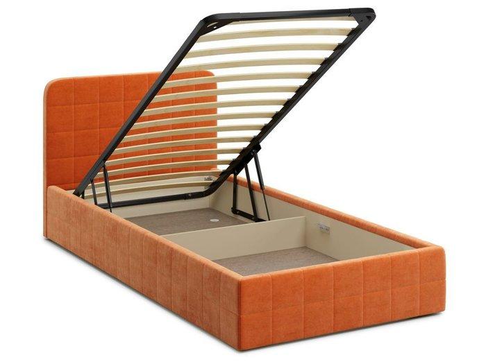 Кровать с подъемным механизмом Adda 120х200 оранжевого цвета