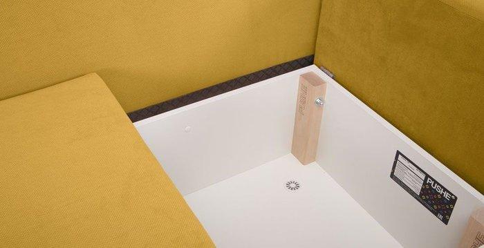 Кушетка-кровать Альта желтого цвета