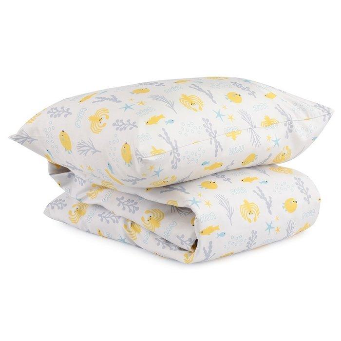 Комплект постельного белья с принтом oceania world из сатина 110х140
