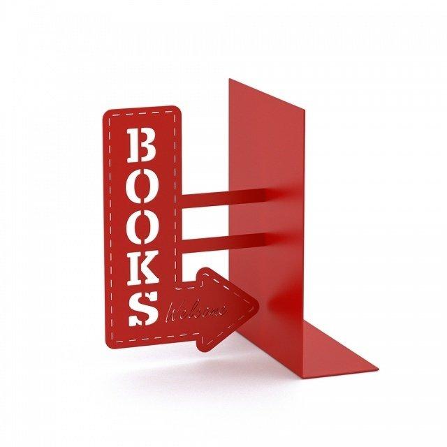 Держатель для книг BookShop красного цвета
