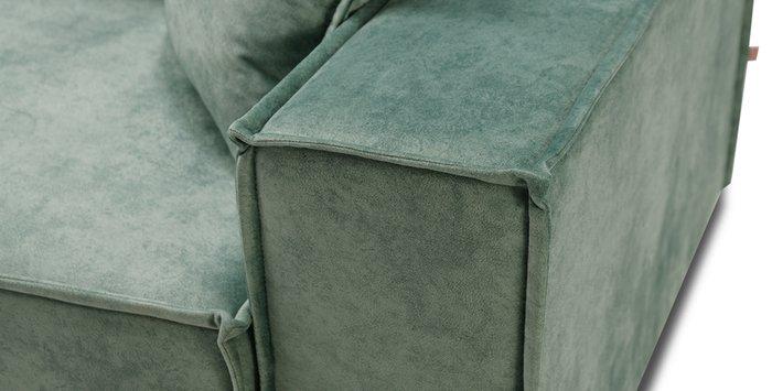 Угловой диван-кровать Фабио бирюзового цвета