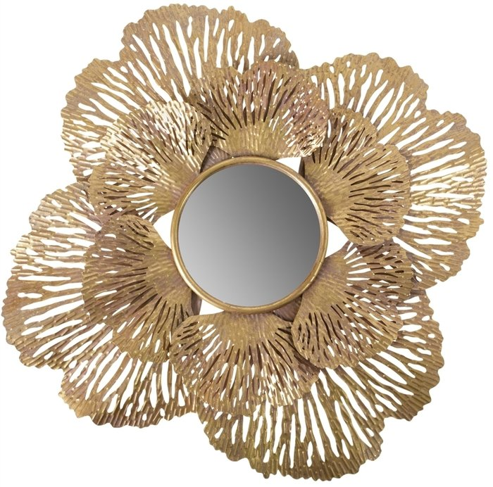 Зеркало настенное с напылением золотого цвета