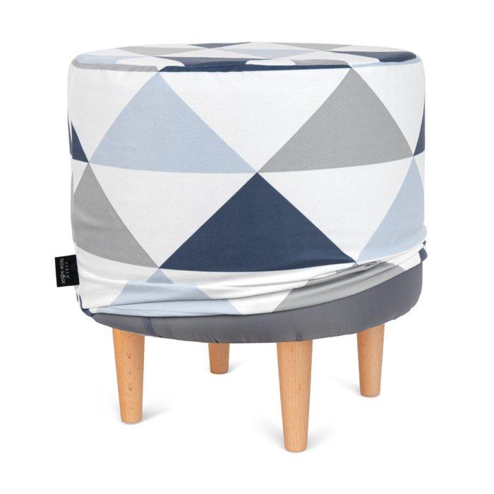 Пуф Спутник Olaf 1 с узором серо-синего цвета