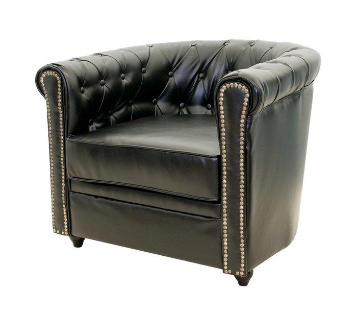 Кожаное кресло Karo black