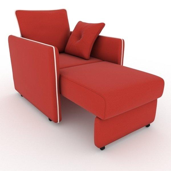Кресло-кровать Cardinal красного цвета