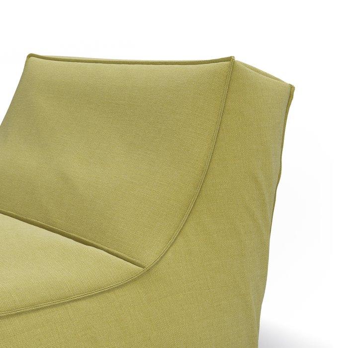 Бескаркасное кресло Flat Lazy горчичного цвета