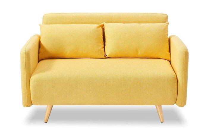 Диван-кровать Cardiff желтого цвета