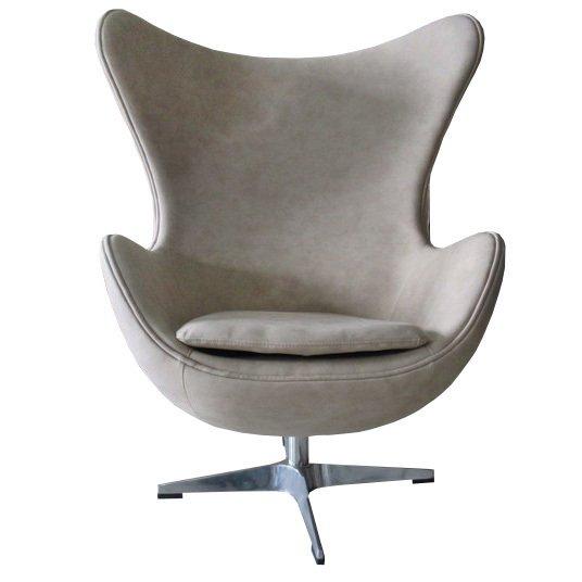 Кресло Egg Chair бежевого цвета