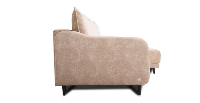 Угловой диван-кровать Бьёрг бежевого цвета