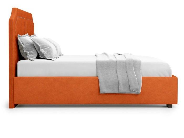 Кровать с подъемным механизмом Lago 160х200 оранжевого цвета