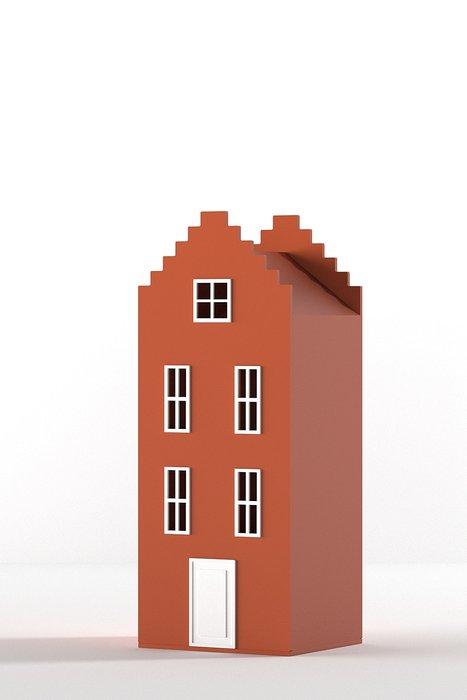 Шкаф-домик Брюгге Mini терракотового цвета