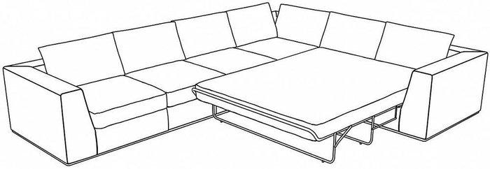 Угловой диван-кровать Igarka темно-коричневого цвета