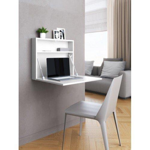 Настенный откидной стол для ноутбука белого цвета