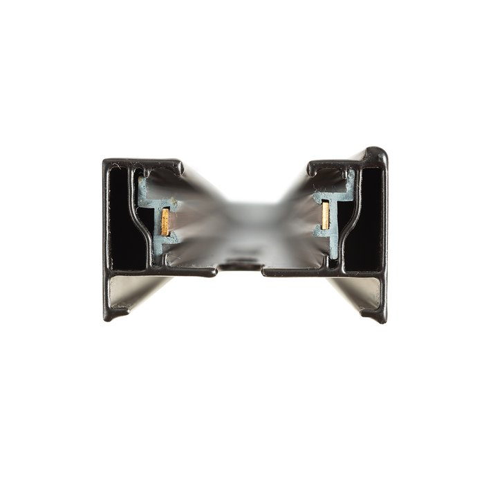 Шинопровод однофазный из алюминия черного цвета