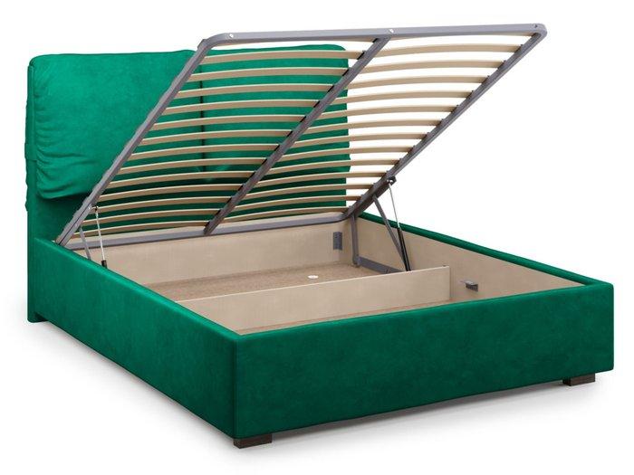 Кровать Trazimeno 140х200 зеленого цвета с подъемным механизмом