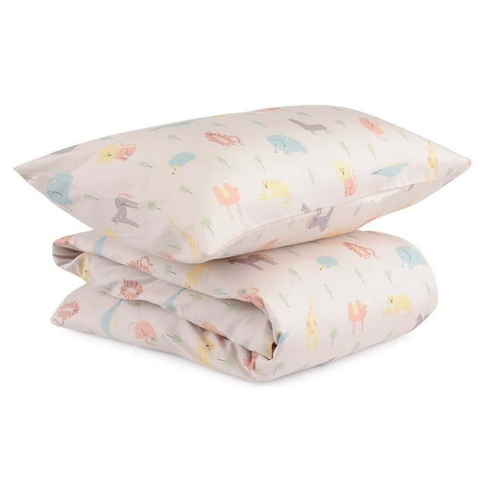 Комплект постельного белья с принтом animalia world из сатина 150х200