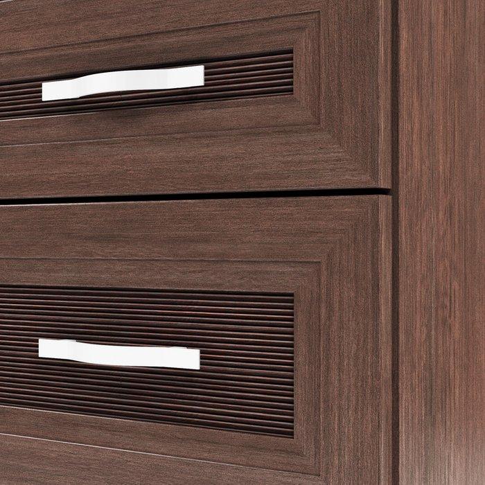 Комод Магна темно-коричневого цвета с пятью ящиками