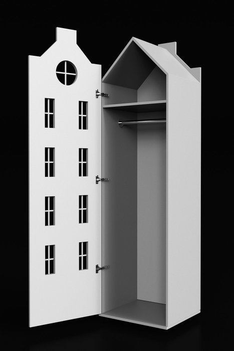 Шкаф-домик Рига Maxi кремового цвета