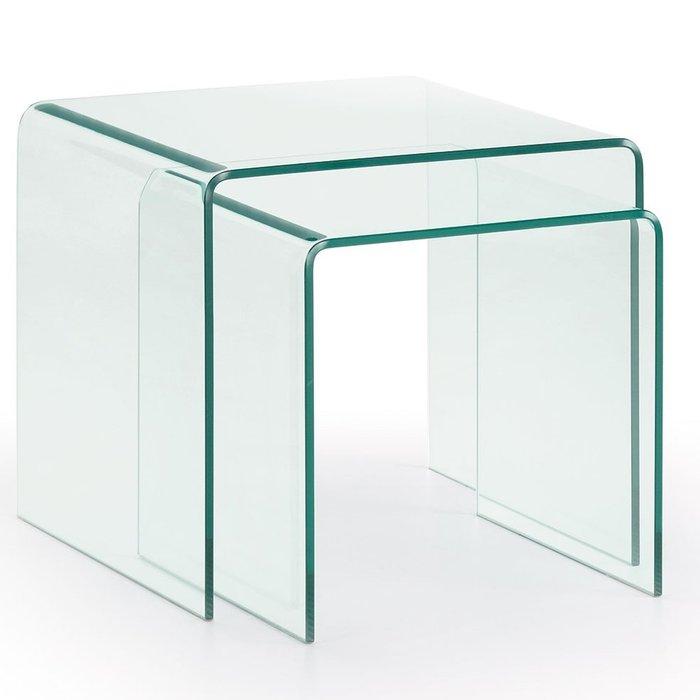 Набор журнальных столиков Julia Grup Burano из закаленного стекла