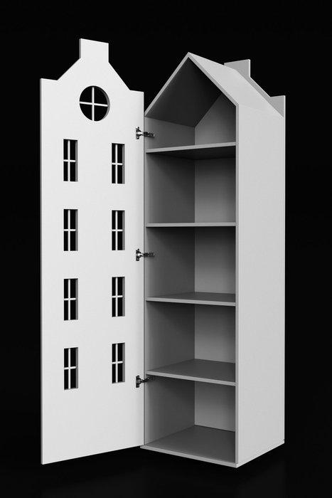 Шкаф-домик Стокгольм синего цвета