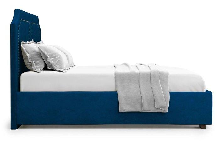 Кровать с подъемным механизмом Lago 140х200 синего цвета