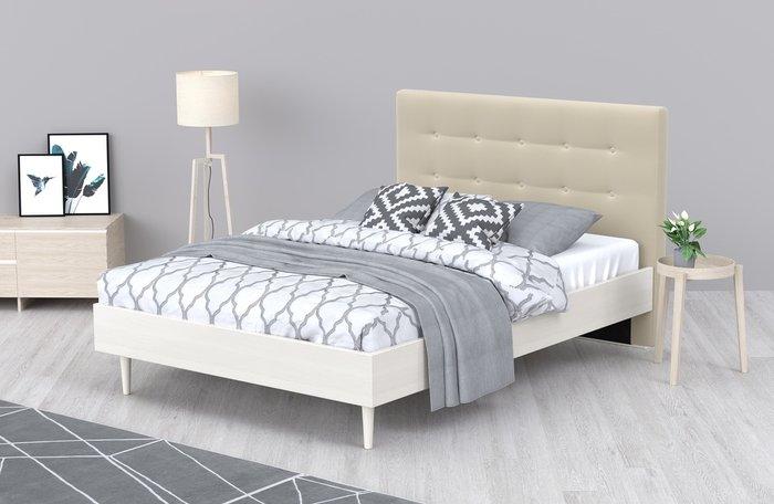 Кровать Альмена 180x200 светло-бежевого цвета