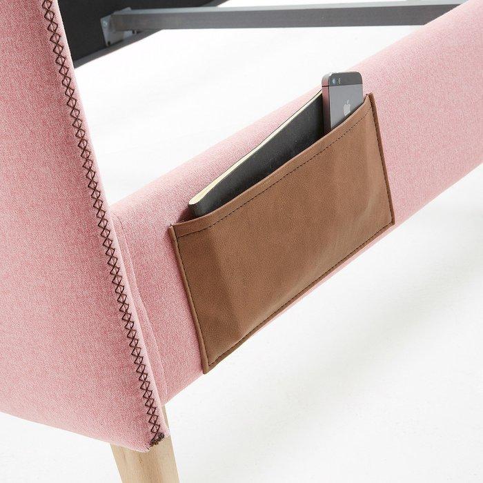 Кровать Lydia розового цвета 90х190