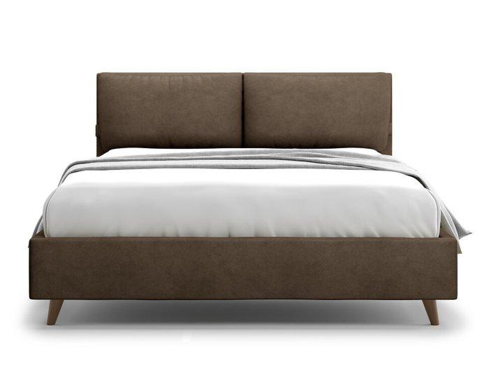 Кровать Trazimeno 180х200 коричневого цвета