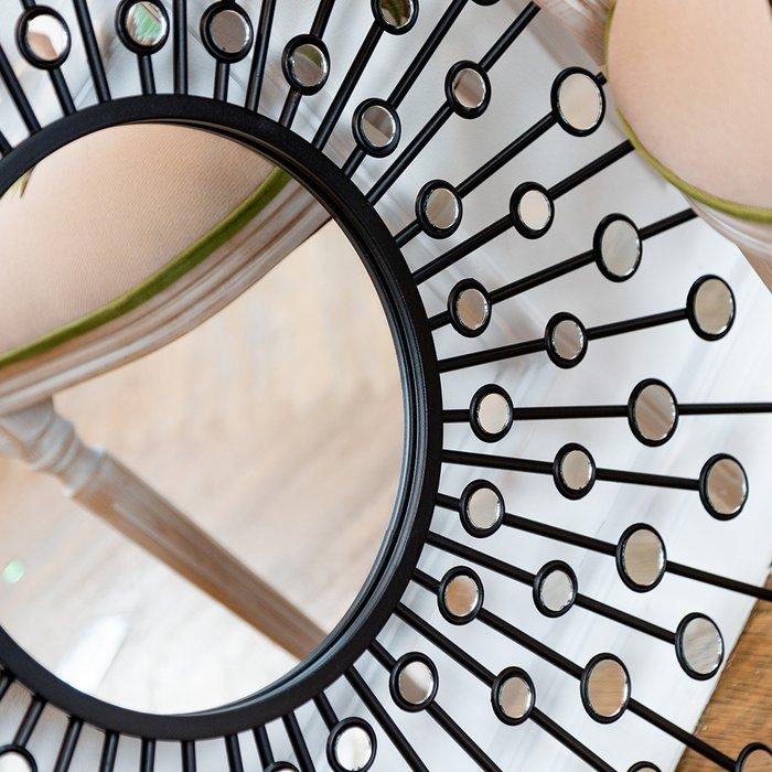 Настенное зеркало Белладжио Блэк черного цвета