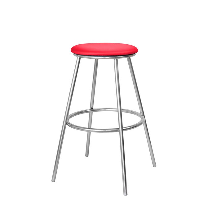 Барный стул Топ №5 красного цвета