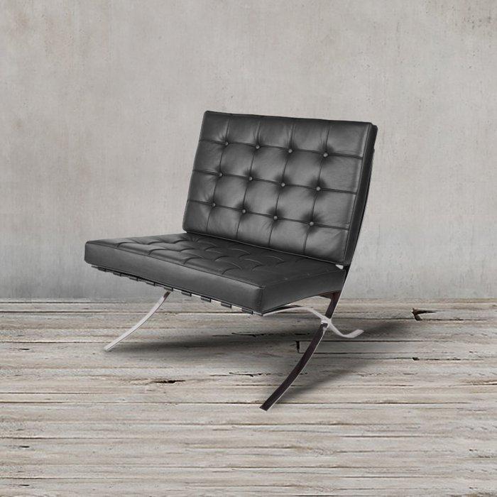 Кресло Барселона черного цвета
