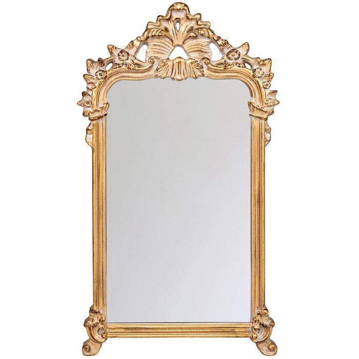 Настенное зеркало Полонез с золотой патиной
