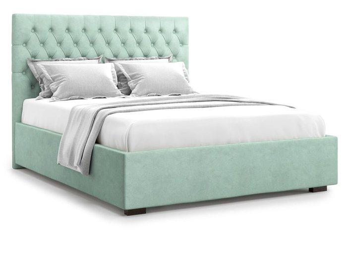 Кровать с подъемным механизмом Nemi 180х200 мятного цвета