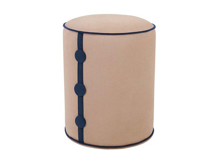 Пуф Drum Button бежевого цвета