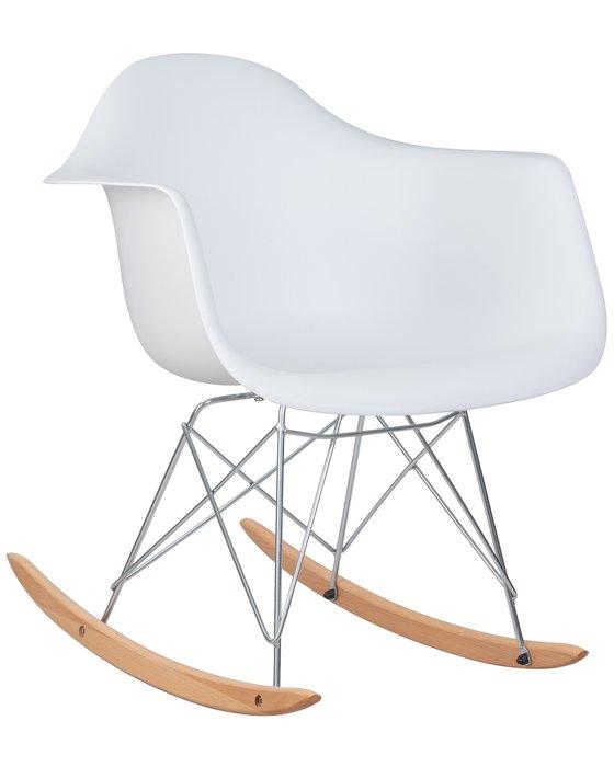 Кресло-качалка Rock белого цвета
