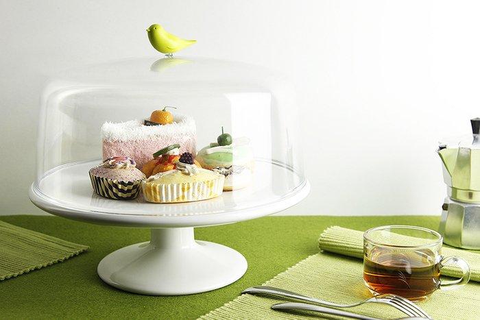 Подставка для сладостей Qualy sweet tweet с крышкой зеленая