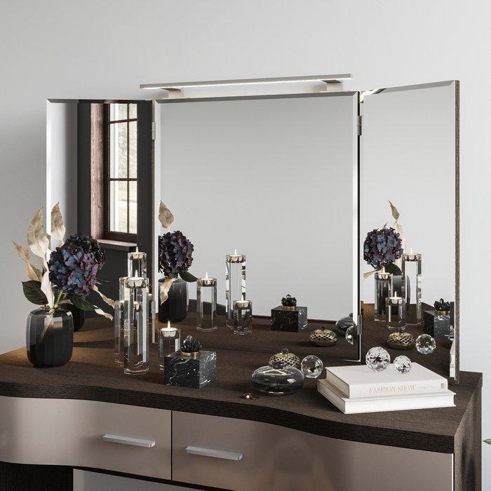 Зеркало-трельяж Элеонора цвета Дуб тёмный