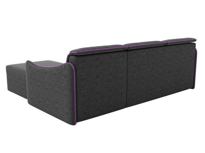 Угловой диван-кровать Скарлетт черного цвета
