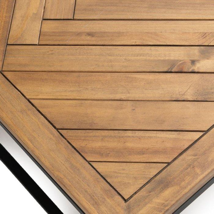 Столик журнальный Nottingham с деревянной столешницей