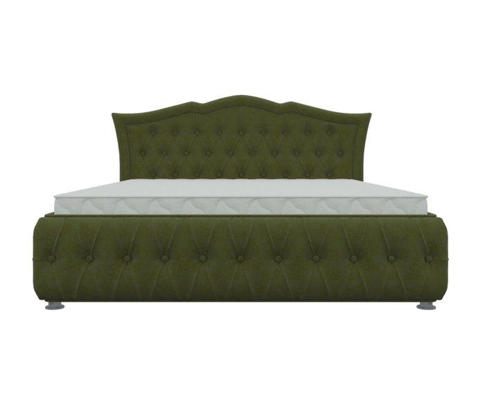 Кровать Герда 180х200 зеленого цвета с подъемным механизмом