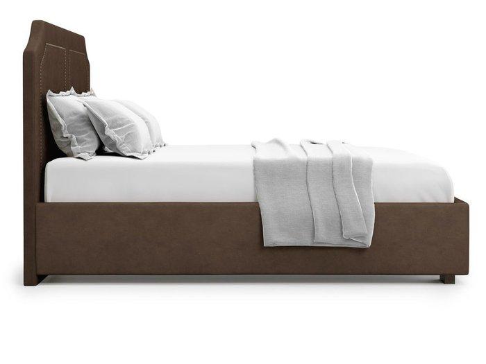 Кровать с подъемным механизмом Lago 160х200 коричневого цвета