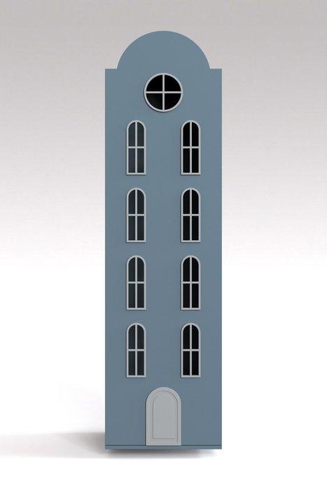 Шкаф-домик Рига Maxi серо-голубого цвета