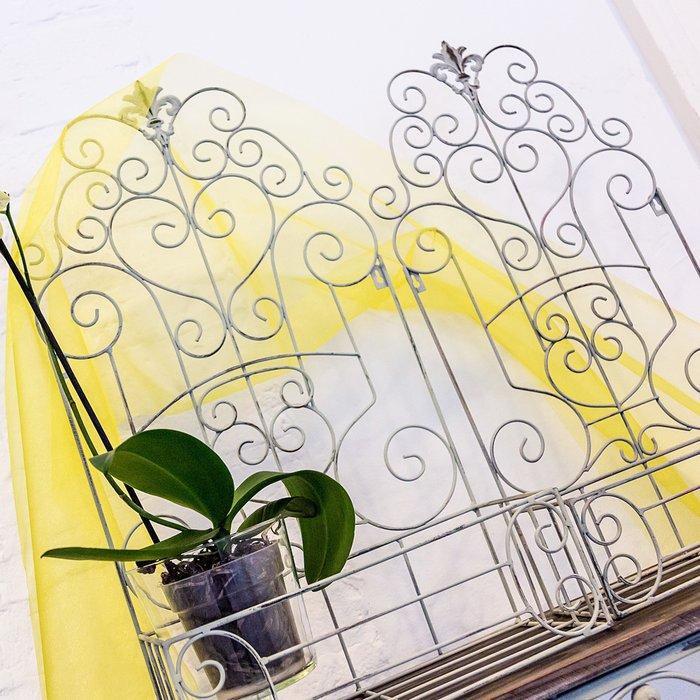 Полка-жардиньерка Люксембургский сад ХL белого цвета