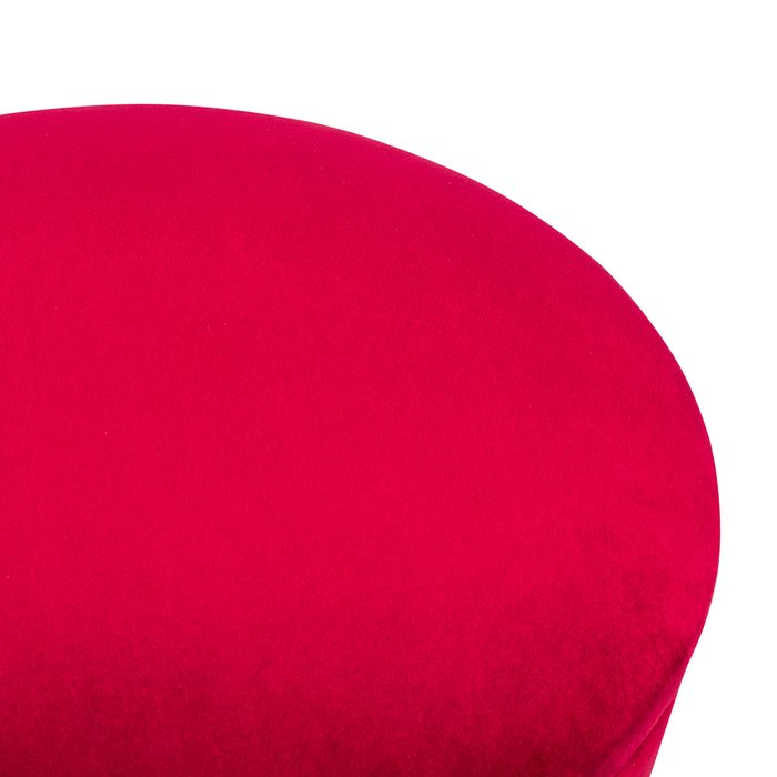 Пуф  Бакет вишневого цвета