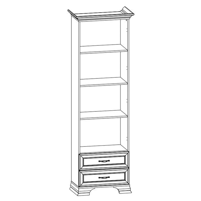 Книжный шкаф Tiffany кремового цвета