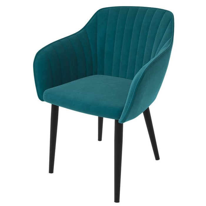 Стул Шандон сине-зеленого цвета