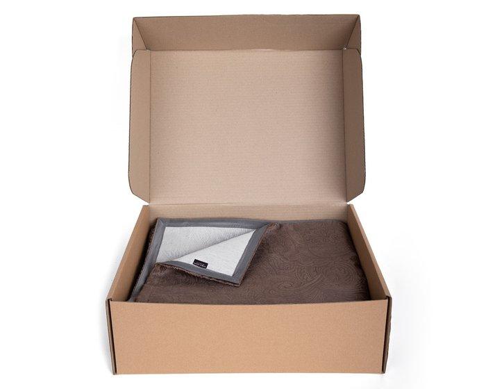Покрывало Duo Glance Twiddle Chocolate 230x240 коричневого цвета