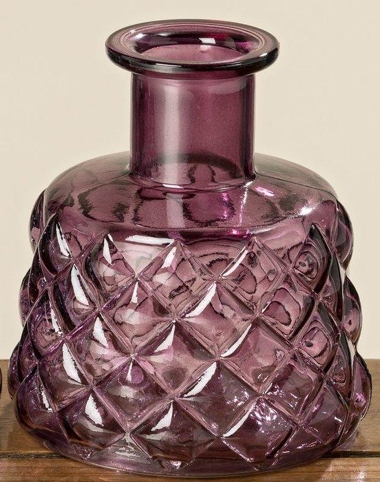 Ваза Lisbeth из стекла пурпурного цвета