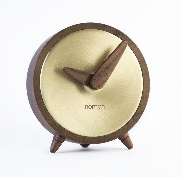 Часы настольные Atomo коричнево-золотого цвета