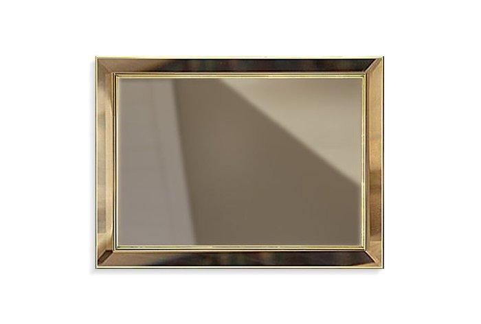 Настенное зеркало Мадлен золотого цвета